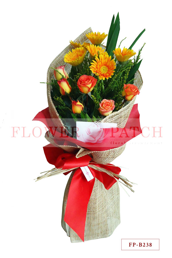 Bouquet of 6 Gerberas and 6 Korean Roses | Flower Patch - Online ...
