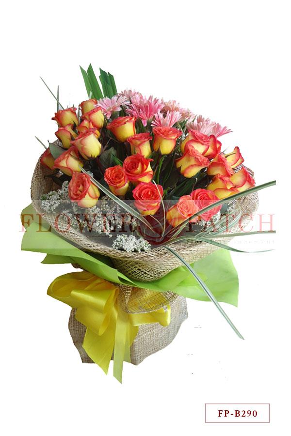 Bouquet of 2 Dozen Korean Roses and 1 Dozen Gerberas | Flower Patch ...