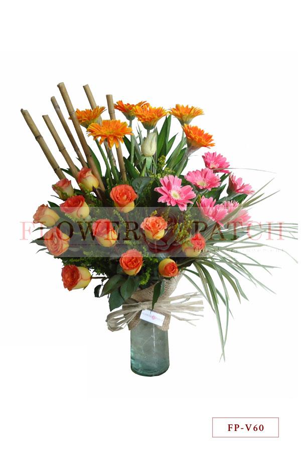 1 Dozen Gerberas and Korean Roses in a Vase  sc 1 st  Flower Patch & 1 Dozen Gerberas and Korean Roses in a Vase | Flower Patch - Online ...